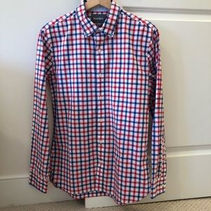 Bonobos Button Down Pink and Blue Sz Small Slim